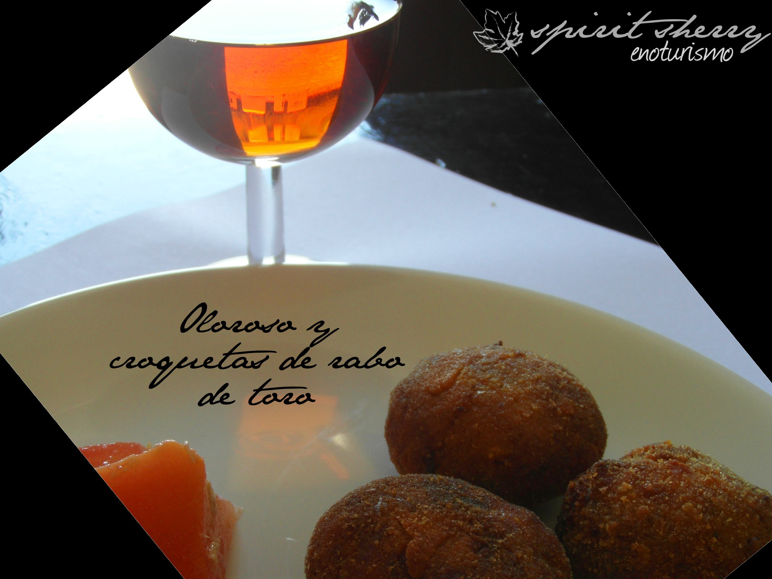 MAridaje oloroso y crequetas de rabo de toro, enoturismo spirit sherry, Jerez