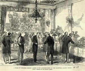 Luncheon Room During Congress of Berlin