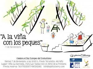 A la viña con los peuqes, enoturismo Jerez con niños, naturaleza spiritsherry.com