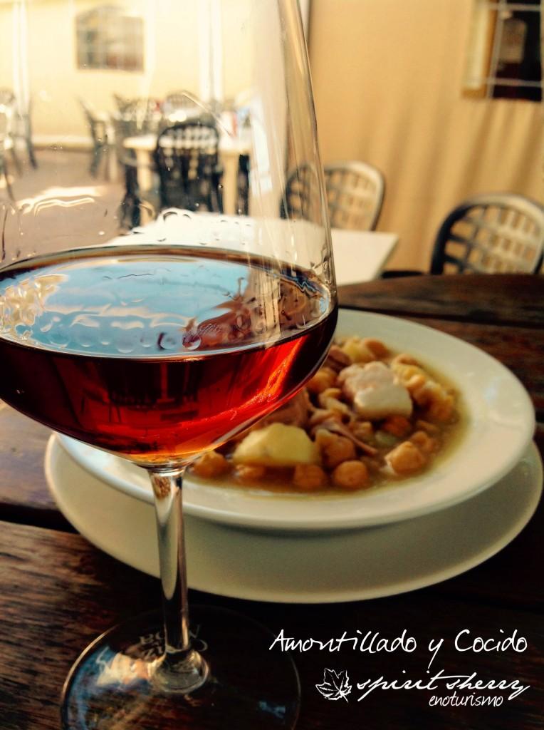 Como maridar el Amontillado Spirit Sherry enoturismo cocina vinos de jerez